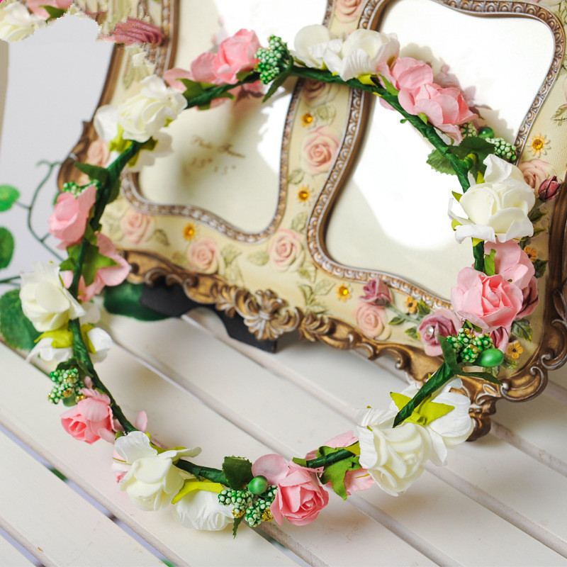 Good quality EVA flower wreath artificial flower head wreath