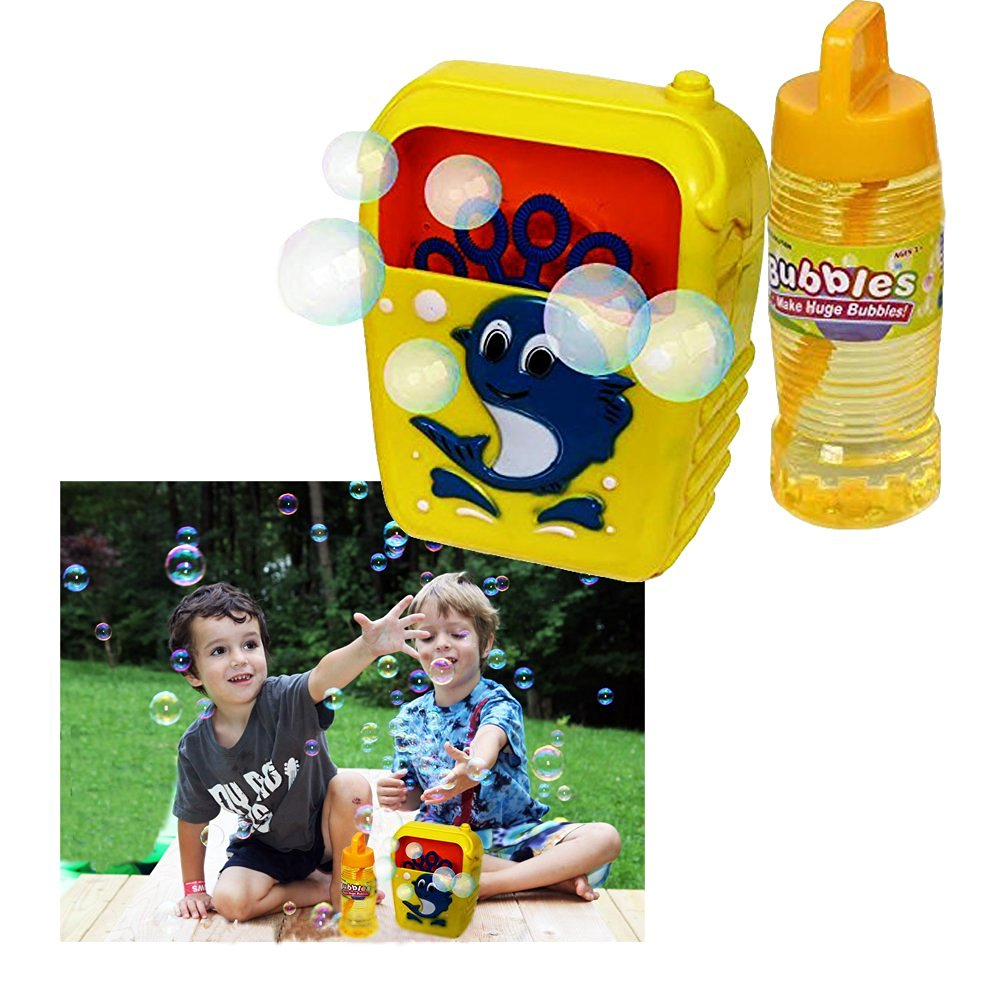 Toy Cubby Battery Operated Automated Kids Party Blowing Bubbles Machine