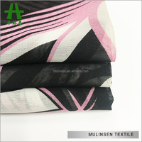 Shaoxing Textile Woven 30D*30D 30gsm Ladies Fashion Fabric, Polyester Scarf Fabric