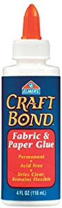 Elmers Craft Bond Fabric & Paper Glue-4 Ounces 1 pcs sku# 654750MA