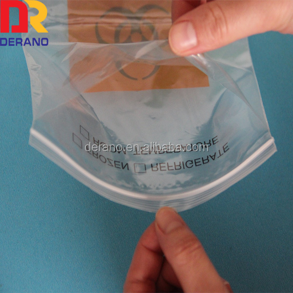 LDPE custom kangaroo zipper bag biohazard specimen bag
