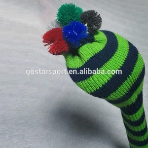Soft Acrylic Yarn Long Neck Knitted Golf Headcover,Golf