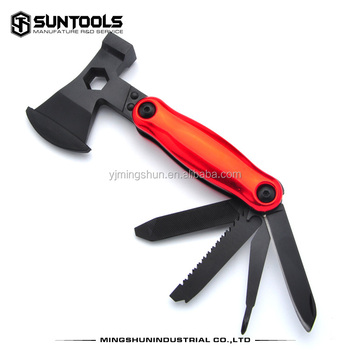 Outdoor 7 in 1 Multi-purpose black finish Axe hammer
