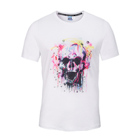Custom brand summer 3D sublimation o-neck organic cotton t-shirt