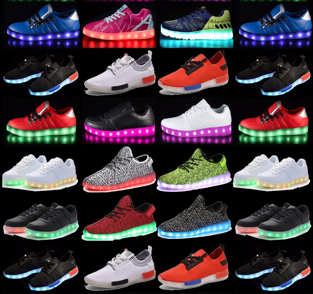 FAST SHIPPING Low MOQ original high quality led zapatos