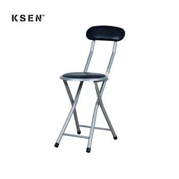 sillas redondas plegables 2 unidades acero
