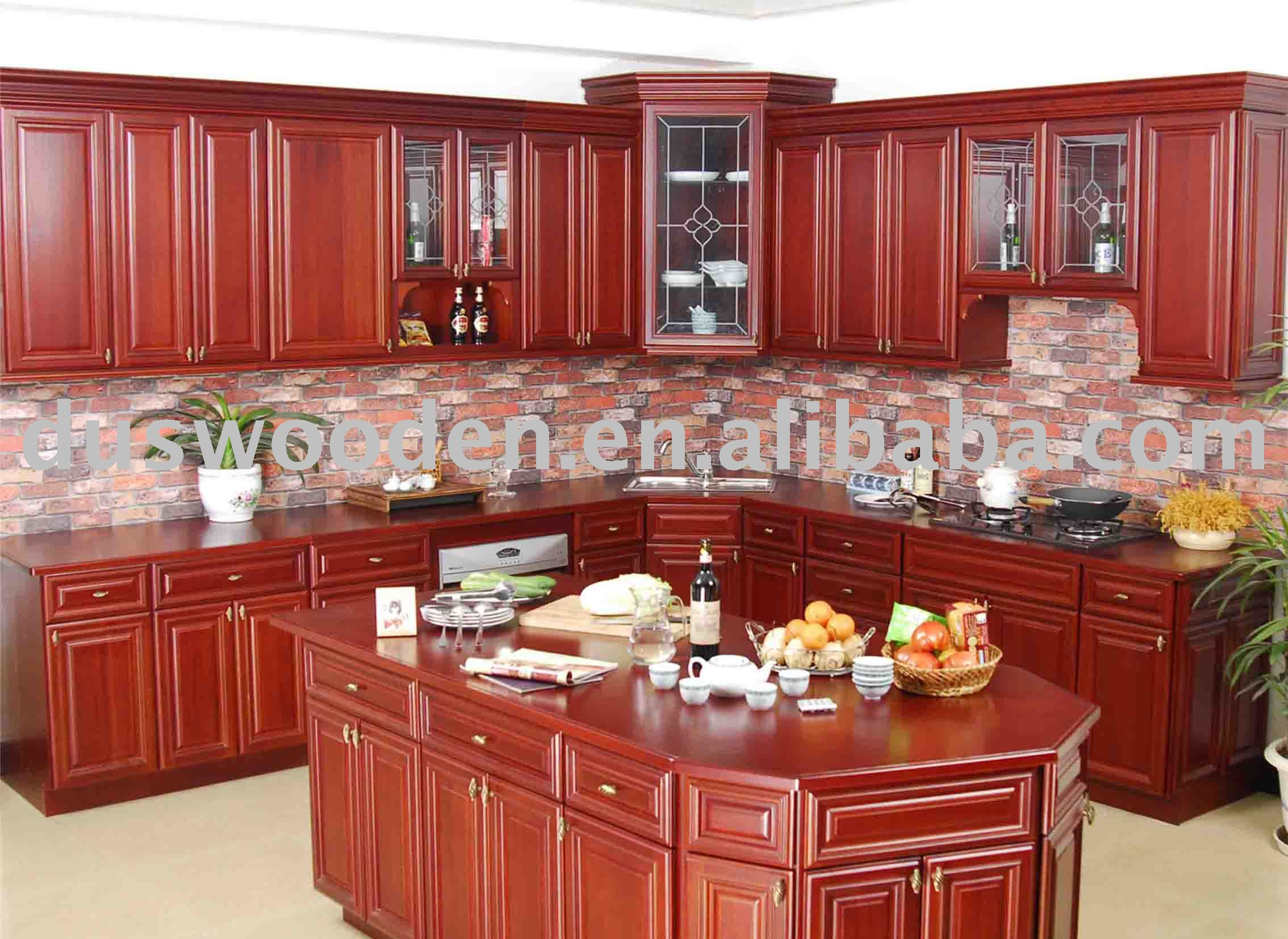 Solid Wood Kitchen Furniture 2014 Hot Sales Traditional Solid Wooden Kitchen Cabinet Buy