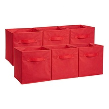 Hoge kwaliteit 6 pack opvouwbaar storage cube, non woven <span class=keywords><strong>opbergdoos</strong></span>