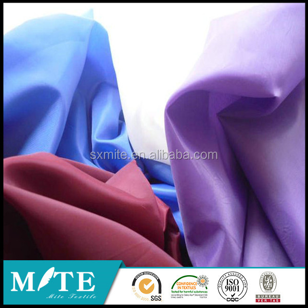 100% polyester lining oxford fabric taffeta for bag/backpack/luggage/tent/shoes/laptop bag/chair