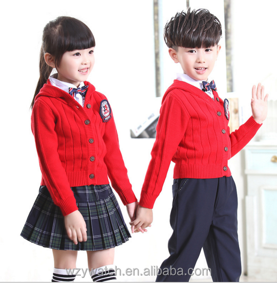 New sweater cardigan sweater cardigan sweater jacket and primary school students English school uniforms