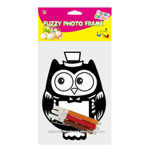 Easter Fuzzy OWL Frame For Pictures