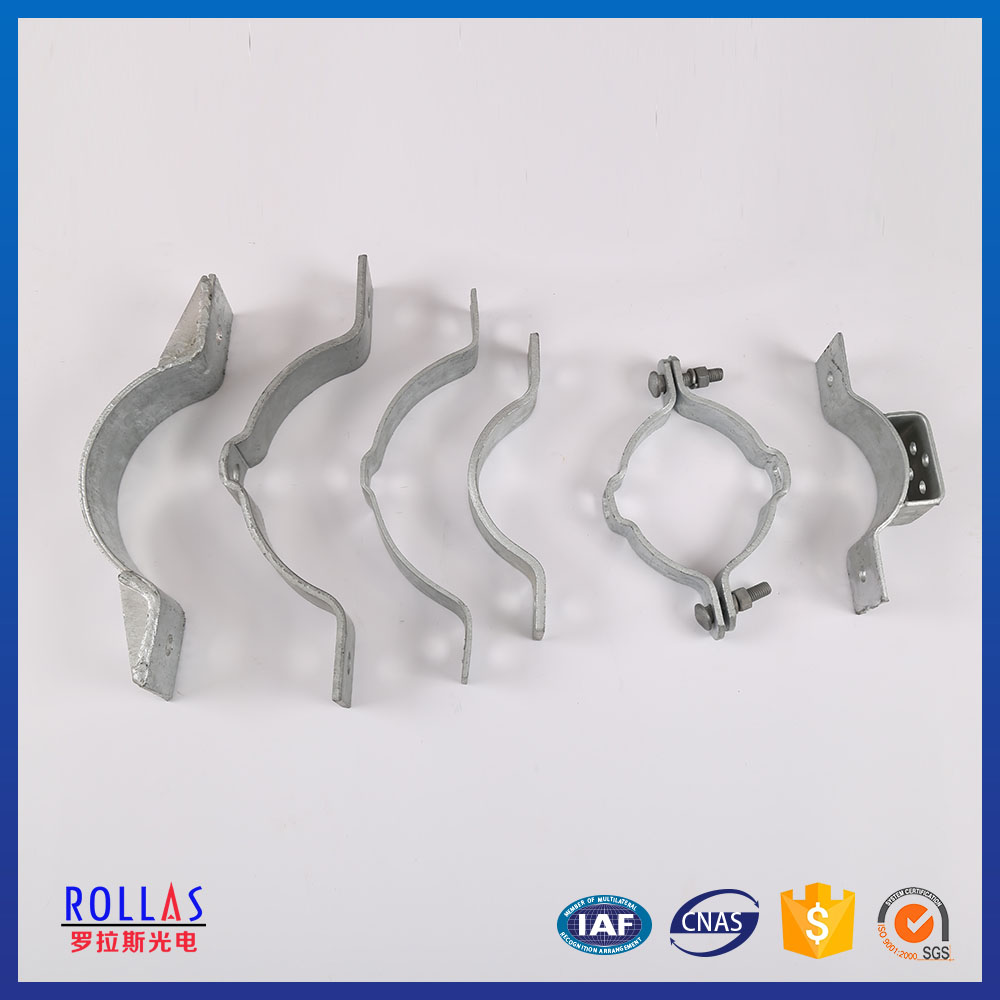 China manufacture hot dip galvanized pole band clamp with low price