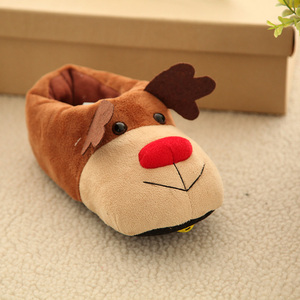 Cute Winter Xmas Elk Deer Style girl casual flat shoe