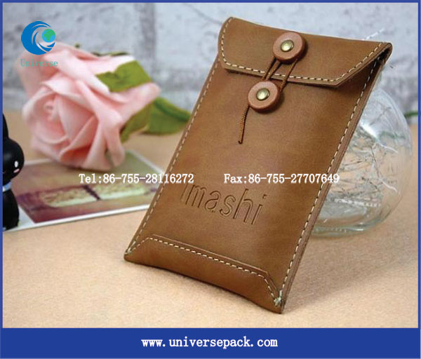 High end custom logo leather mobilephone bag for export