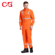 Excellent quality orange red nomex coverall flame resistant uniforms