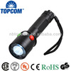 Rechargeable 3w 6 red LED 6 green LED 1 white led signal flashlight