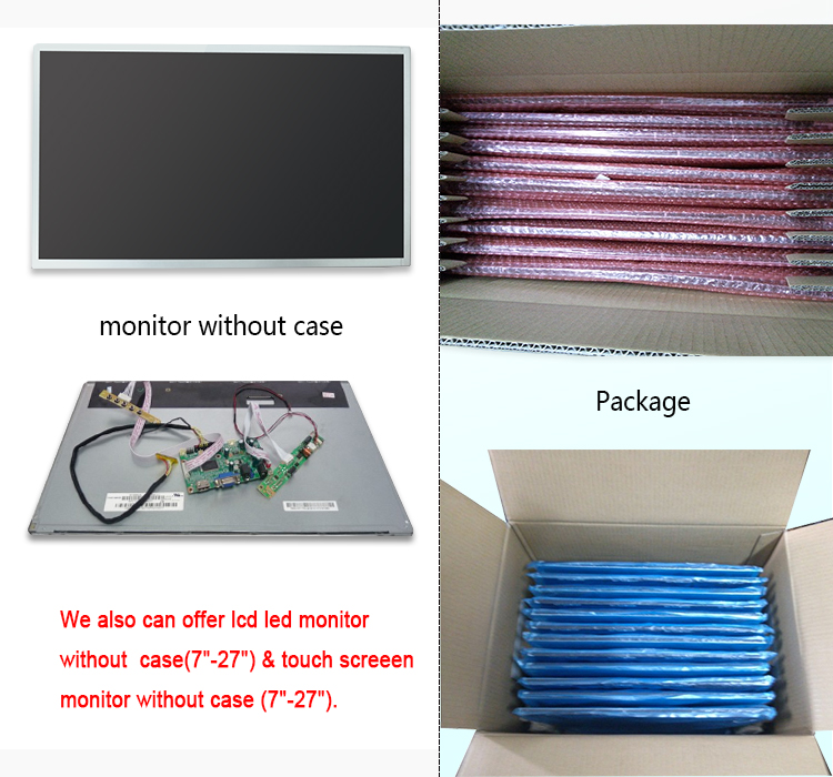 ultra thin full hd cheap tft lcd monitor 25 inch with DC 12 Volt