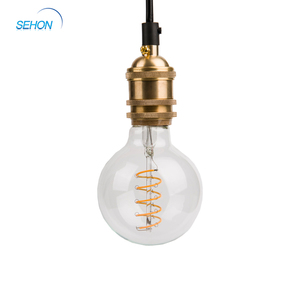 New type curved led filament bulb G125 4W Dimmable Led Bulb