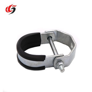 China Customized Rubber Pipe Hanger Galvanized Steel Clevis Pipe Hanger  clamp