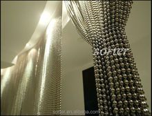 fashionable decorative room divider metal bead string curtain