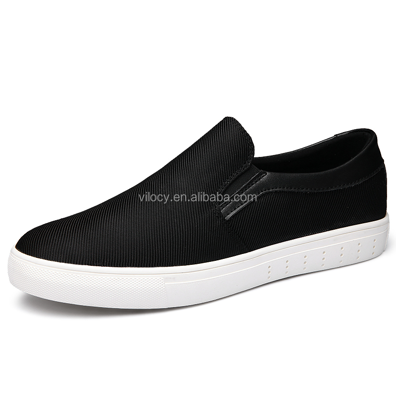 New Style Black Loafers for Men Slip-on Canvas Shoes Casual Wear