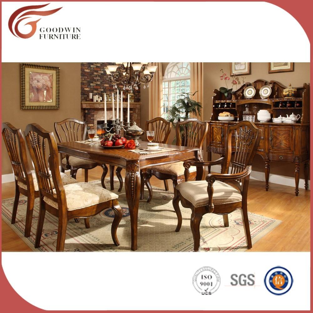 El mejor precio de madera de roble natural mesa de comedor for Modelos de sillas clasicas