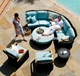 Hot sale nice outdoor furniture patio sofa sets rattan curved sofa