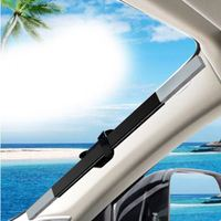 High Quality Sublimation 100% Polyester Car Sunshade Static Cling Shade