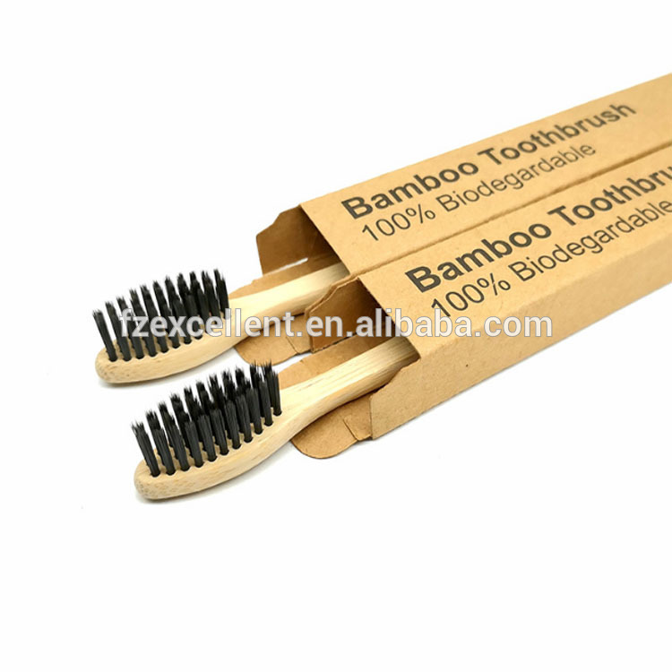Eco-Friendly Biodegradable Bambu Teeth Brush Self Standing Custom Toothbrush Charcoal Bamboo Toothbrush