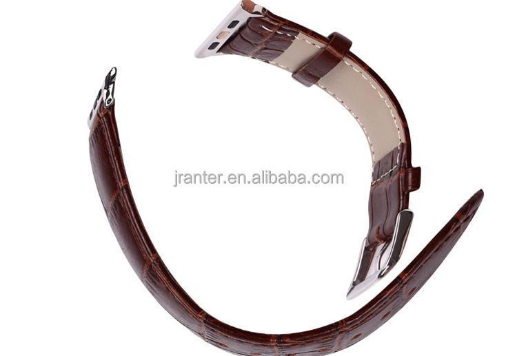 Jranter Custom 100% Genuine Crocodile Alligator Leather for Apple Watch Band