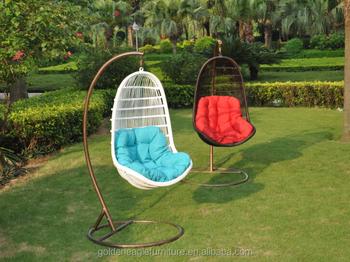 Dondolo Da Giardino A Forma Di Uovo : Forma di uovo giardino esterno di vimini appesi swing sedia del