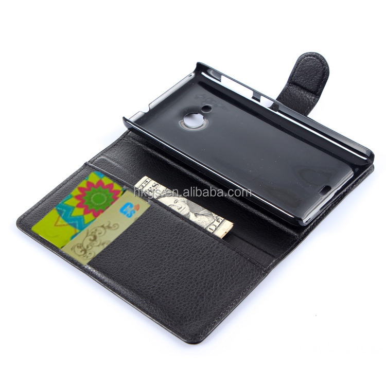 Wallet Leather Case For Microsoft Lumia 535 Stand Flip Cover For ...