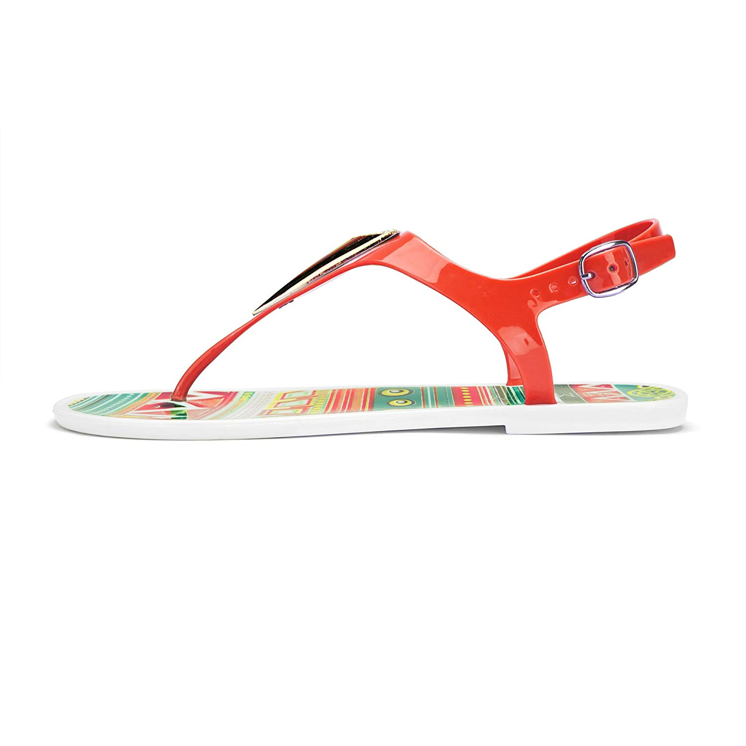 6d12a9f42f8fa Get Quotations · Chemistry® EVA Women s Roman Gladiator Thong Bow Tie Flat  Sandals Adjustable Ankle Strap Flip Flops