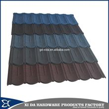Beautiful colored stone coated metal roofing tile for modern house roofing design