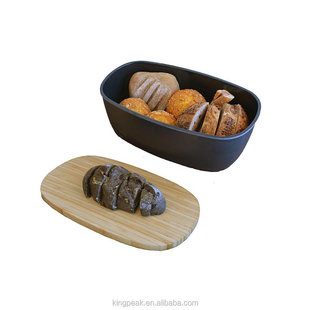 Hot Sale Bamboo Fiber Medium Bread Boxes For Kitchen Counter Storage ...