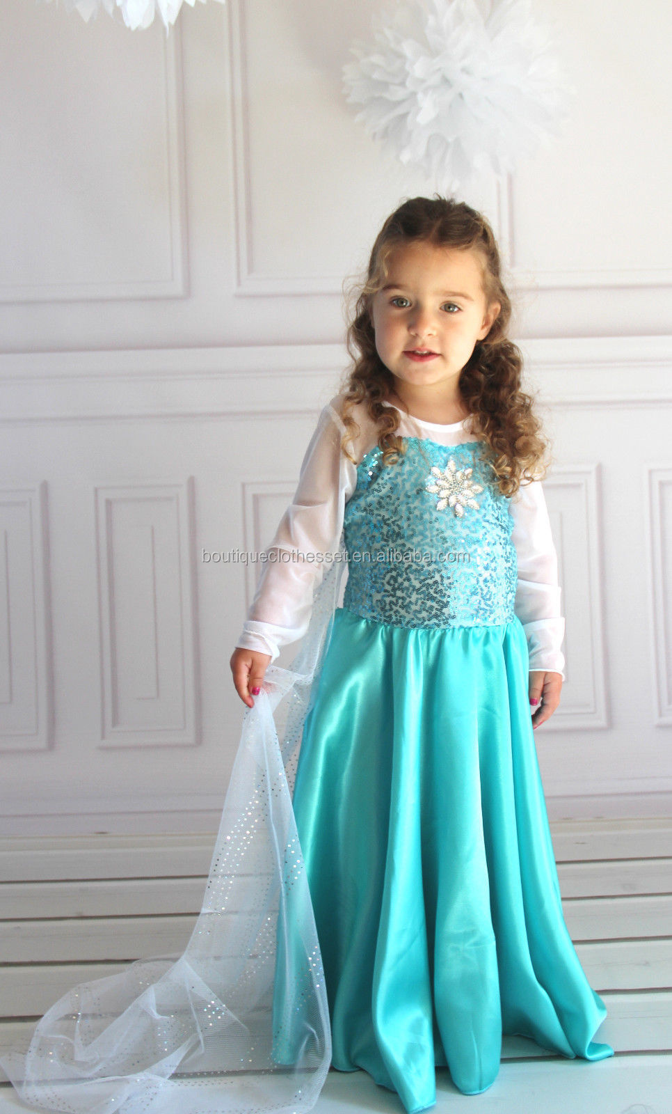 Newest Design Wholesale Kids Clothes Baby Girls White Wedding Dress ...