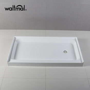 60 X 32 Single Threshold Textured Shower Base With Right Hand
