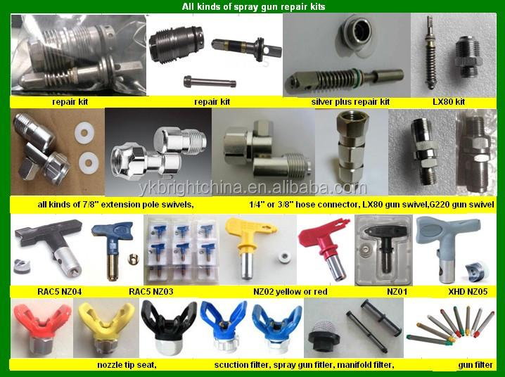 airless paint sprayer machine parts swivel curtain rod HS code ...