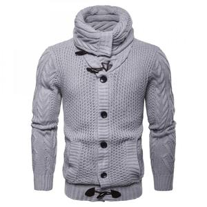 casual style acrylic & polyester lapel collar loose winter latest design sweater knitted men cardigan sweater 248062