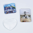 Wholesale Round Square Heart Custom Glass Crystal Fridge Magnet For Promotion Souvenir