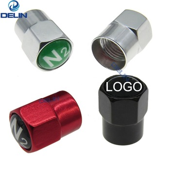 colorful metal Nitrogen N2 Tire Valve Caps Car motorcycle bike Valve Stem Covers custom logo Wheel Rim Valve Caps
