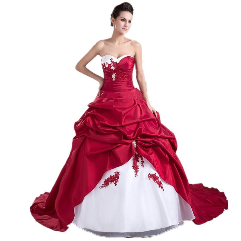de04cef7fa5 Robe de mariée rouge et blanche