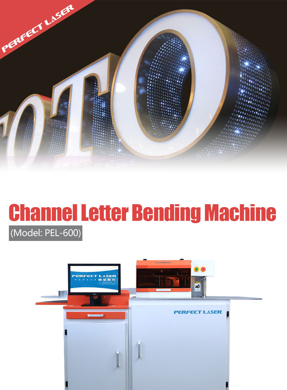 CNC Automatic Stainless Steel Metal Bending Machine for 3d  Channel Letter Sign making