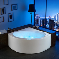 Corner round shape shower best jet spa bath bathroom massage bathtub