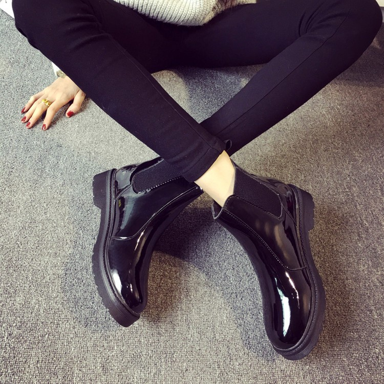 06bac6937abeb ... Shoes Woman Patent Leather Boots School Style For Girls Black Motorcycle.  20160727210443855008 750 20160727210443855019 750 20160727210443855015 750  ...