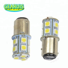 Fabrikant p21/5w s25 bay15d 1157 13 smd 5050 led voor auto auto remlicht 12v licht rood blauw geel wit