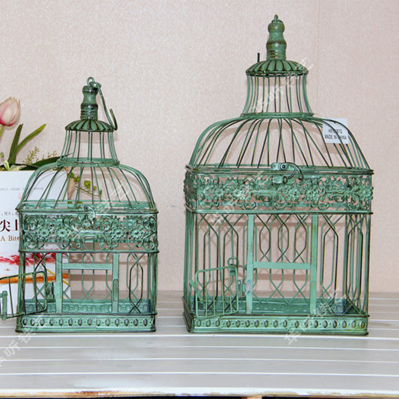 High Quality Decorative Bird Cages Distressed Large Bird