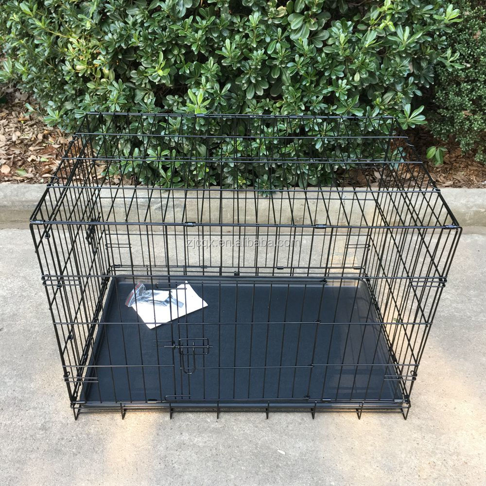 "Pet Kennel Cat Dog Folding Steel Crate Animal Playpen Wire Metal Cage 36"" Black"