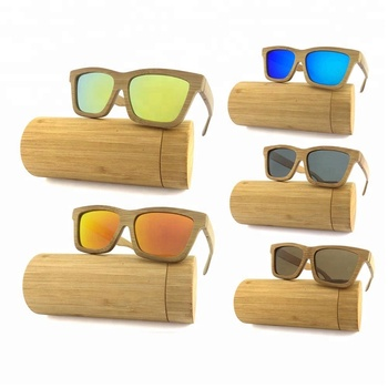 High Quality FDA Wholesale Mirror Lens China Wood Bamboo Sunglasses Custom Logo Cat.3 Polarized 2020 Wooden Sunglasses