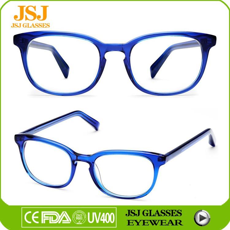 fashion reading glasses bk9e  Sky blue fashion reading glasses custom logo slim acetate eyeglasses frame